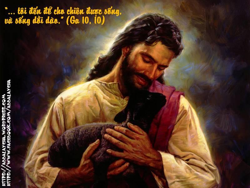 """""""…tôi đến để cho chiên được sống, và sống dồi dào."""" (Ga 10, 10)"""