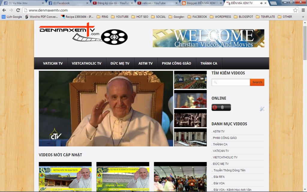 """Kênh truyền hình Công Giáo Online """"ĐẾN MÀ XEM TV"""" ngày 21 & 22.08.2014"""
